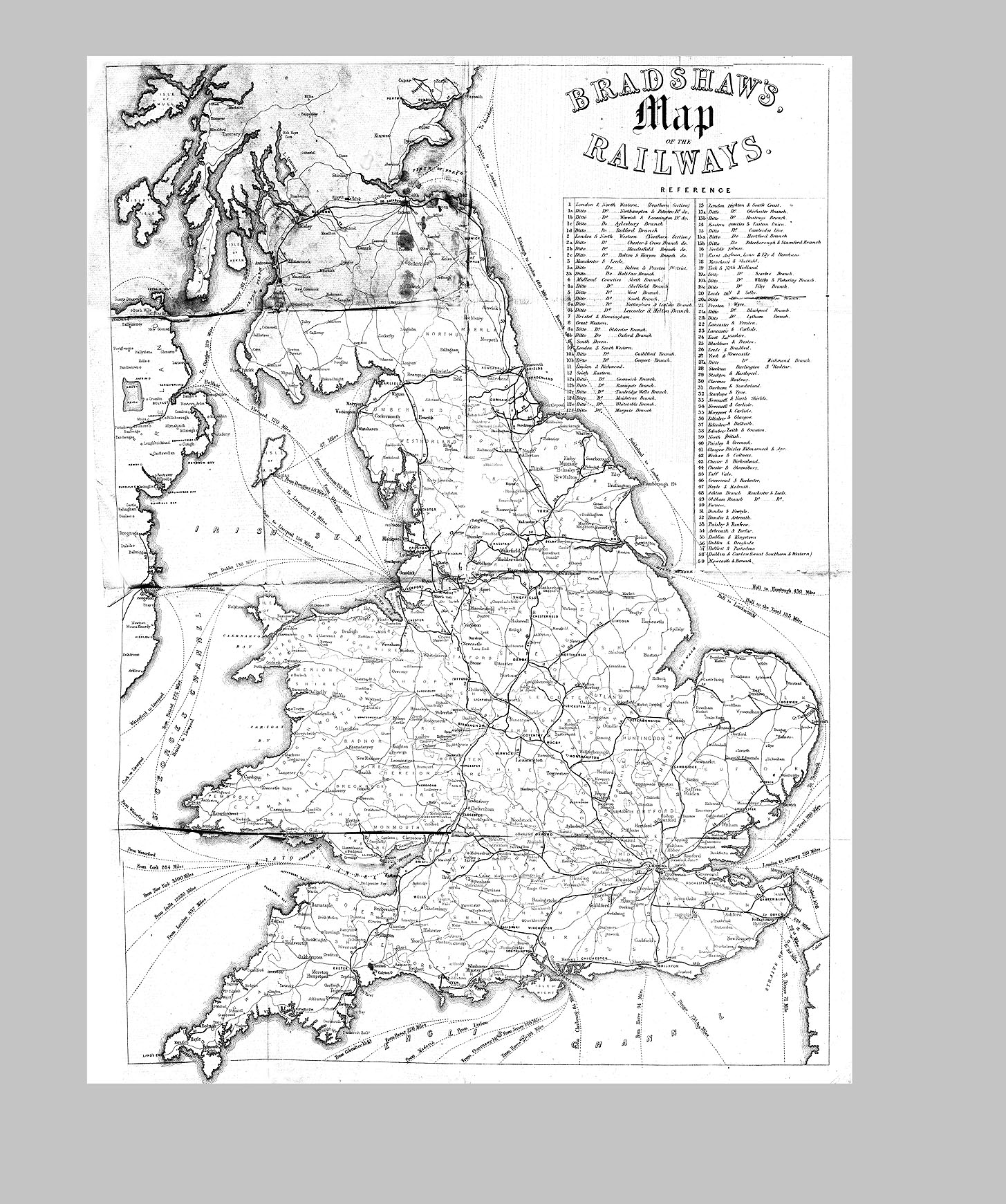 Untitled Two Way Switch Bbc Bitesize Examine Route Maps For The Railways Such As 1850 Bradshaws Map Of On Consulting Detective Website